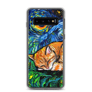 Orange Tabby Night Samsung Case