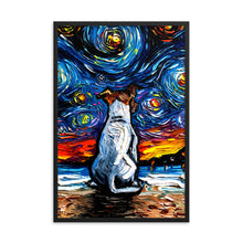 Load image into Gallery viewer, Jack Russell Terrier Night 2 Framed Photo Paper Poster