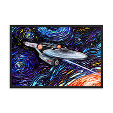Load image into Gallery viewer, van Gogh Never Met Captain Kirk Framed Photo Paper Poster