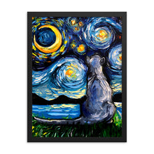 Load image into Gallery viewer, Russian Blue Night Framed Print