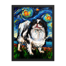 Load image into Gallery viewer, Japanese Chin Night Framed Photo Paper Poster