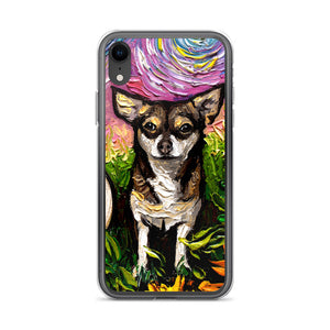 Chihuahua Night, Brown and Tan iPhone Case