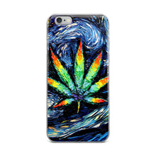 Load image into Gallery viewer, Starry Night Pot Leaf iPhone Case