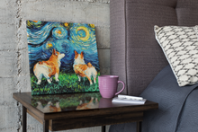 Load image into Gallery viewer, Corgi Night, a Beautiful, Ready to Hang Canvas Print