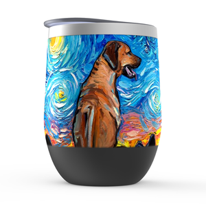Rhodesian Ridgeback Night Stemless Wine Tumblers