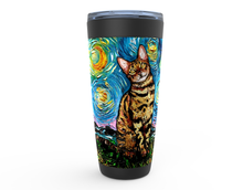 Load image into Gallery viewer, Bengal Cat Night Viking Tumbler