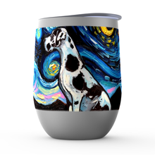 Load image into Gallery viewer, Great Dane Night, Harlequin, Stemless Wine Tumblers