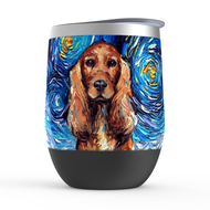 Cocker Spaniel Night Stemless Wine Tumblers