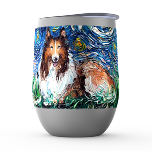 Collie Night Stemless Wine Tumblers