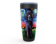 Poodle Night, Black, Viking Tumbler