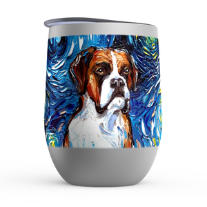 Boxer Night Stemless Wine Tumblers
