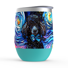 Load image into Gallery viewer, Poodle Night, Black, Stemless Wine Tumblers