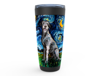 Irish Wolfhound Night Viking Tumbler