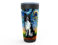 Border Collie Night 2 Viking Tumbler