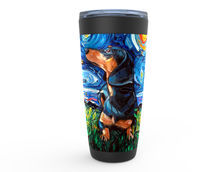 Load image into Gallery viewer, Dachshund Night, Black and Tan, Viking Tumbler
