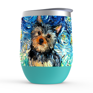 Yorkie Night Stemless Wine Tumblers