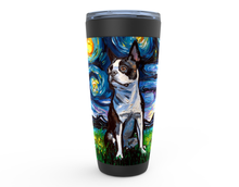 Load image into Gallery viewer, Boston Terrier Night, Profile, Viking Tumbler