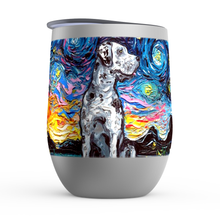 Load image into Gallery viewer, Great Dane Night, Merle, Stemless Wine Tumblers