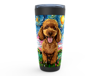 Poodle Night, Apricot, Viking Tumbler
