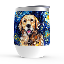 Load image into Gallery viewer, Golden Retriever Night Stemless Wine Tumblers