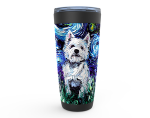 Westie Night Viking Tumbler
