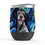 Irish Wolfhound Night Stemless Wine Tumblers