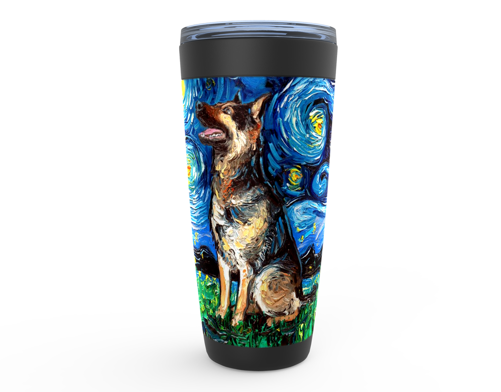 German Shepherd Night 2 Viking Tumbler