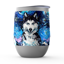 Load image into Gallery viewer, Husky Night Stemless Wine Tumblers