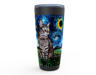 Tabby Night Viking Tumbler