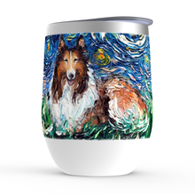 Load image into Gallery viewer, Collie Night Stemless Wine Tumblers