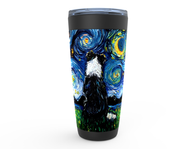Border Collie Night 3 Viking Tumbler
