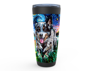 Australian Cattle Dog Night Viking Tumbler
