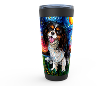 Load image into Gallery viewer, Cavalier King Charles Spaniel Night, Tri Color, Viking Tumbler