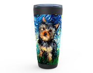Yorkie Night Viking Tumbler