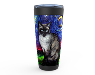 Siamese Cat Night Viking Tumbler