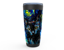 Load image into Gallery viewer, Black Cat Night, Profile, Viking Tumbler