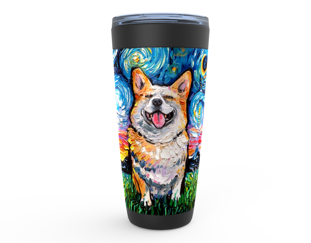 Corgi Night, Smiling, Viking Tumbler