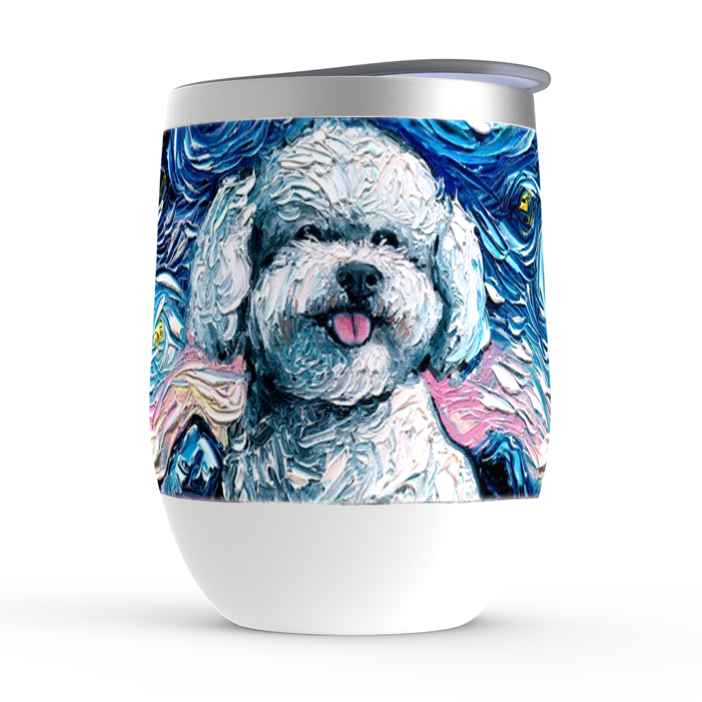 Bichon Frise Night Stemless Wine Tumblers