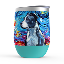 Load image into Gallery viewer, Pitbull Night Stemless Wine Tumblers