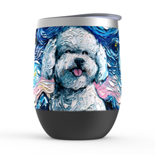 Load image into Gallery viewer, Bichon Frise Night Stemless Wine Tumblers