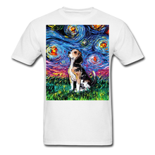 Load image into Gallery viewer, Beagle Night Unisex Classic T-Shirt - white