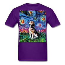 Load image into Gallery viewer, Beagle Night Unisex Classic T-Shirt - purple