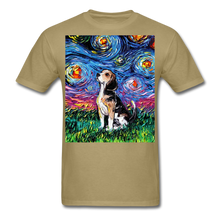 Load image into Gallery viewer, Beagle Night Unisex Classic T-Shirt - khaki