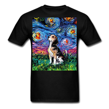 Load image into Gallery viewer, Beagle Night Unisex Classic T-Shirt - black