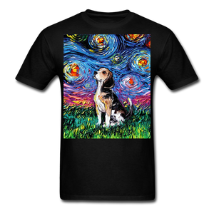 Beagle Night Unisex Classic T-Shirt - black