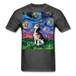Beagle Night Unisex Classic T-Shirt - heather black