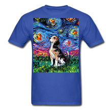 Load image into Gallery viewer, Beagle Night Unisex Classic T-Shirt - royal blue