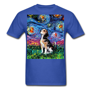 Beagle Night Unisex Classic T-Shirt - royal blue