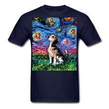 Load image into Gallery viewer, Beagle Night Unisex Classic T-Shirt - navy