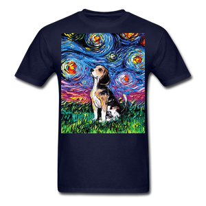 Beagle Night Unisex Classic T-Shirt - navy